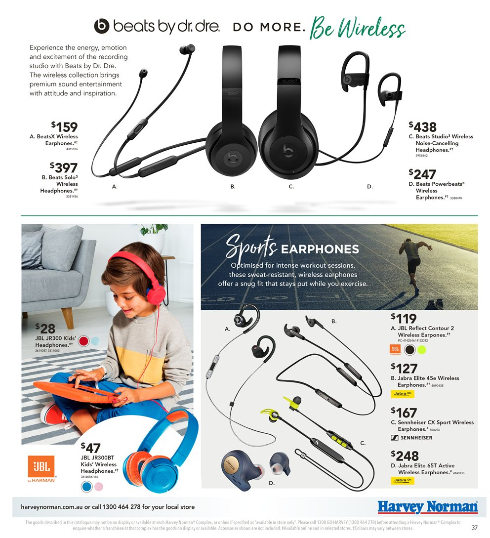 Harvey Norman catalogue  - 8.1.2019 - 27.1.2019. Page 37.