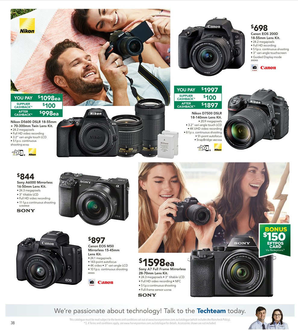 Harvey Norman catalogue  - 8.1.2019 - 27.1.2019. Page 38.