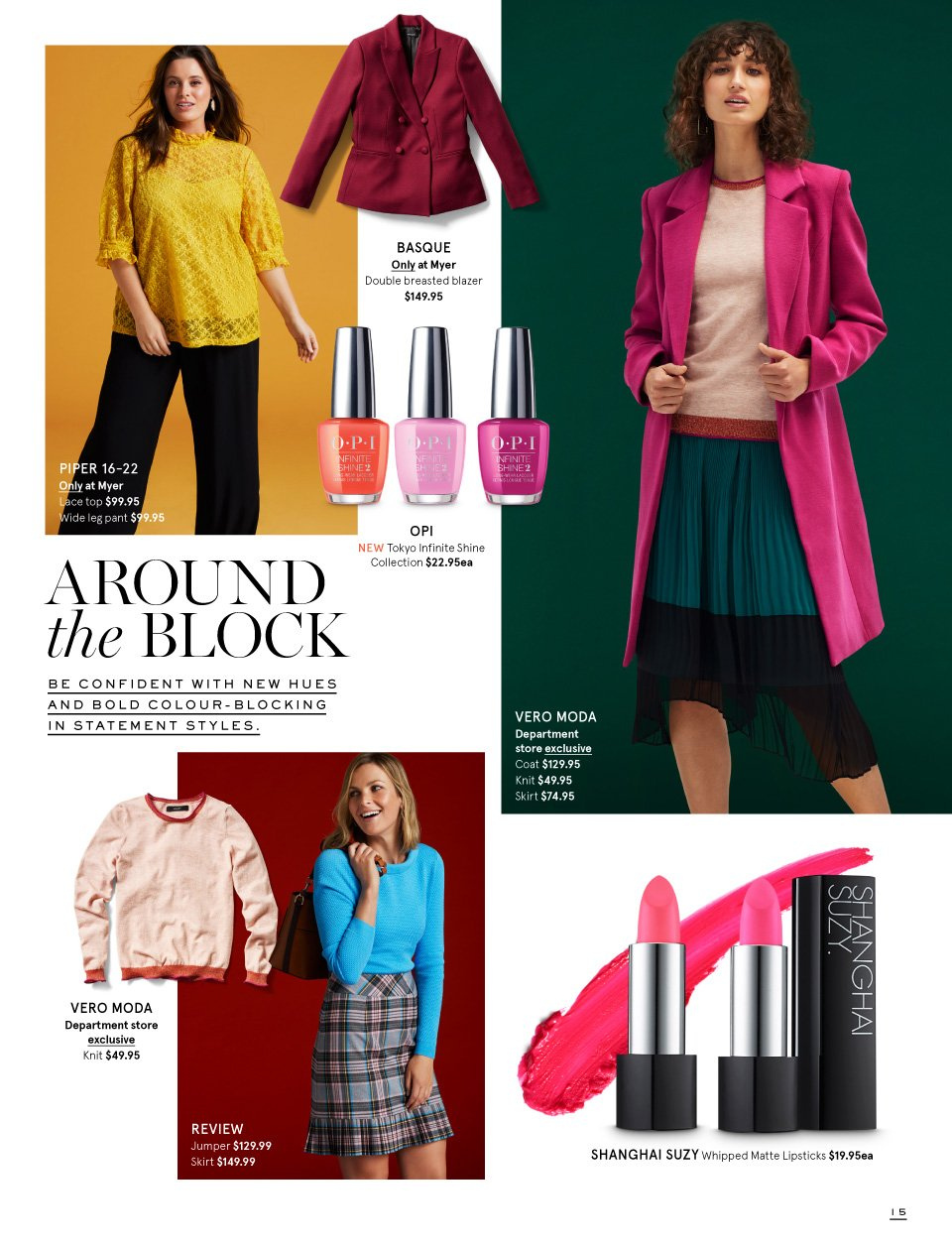Myer catalogue  - 26.2.2019 - 17.3.2019. Page 15.