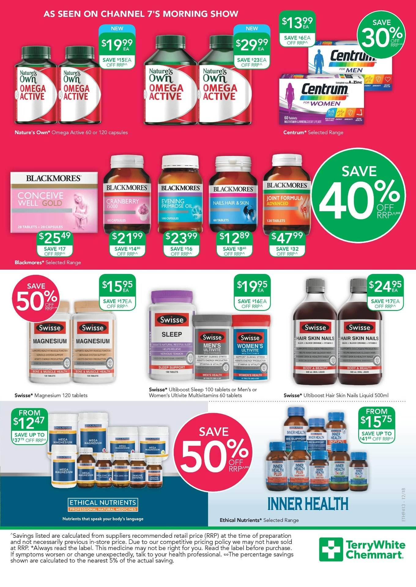 TerryWhite Chemmart catalogue  - 7.3.2019 - 26.3.2019. Page 3.