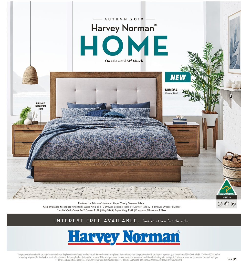 Harvey Norman catalogue  - 8.3.2019 - 31.3.2019. Page 1.