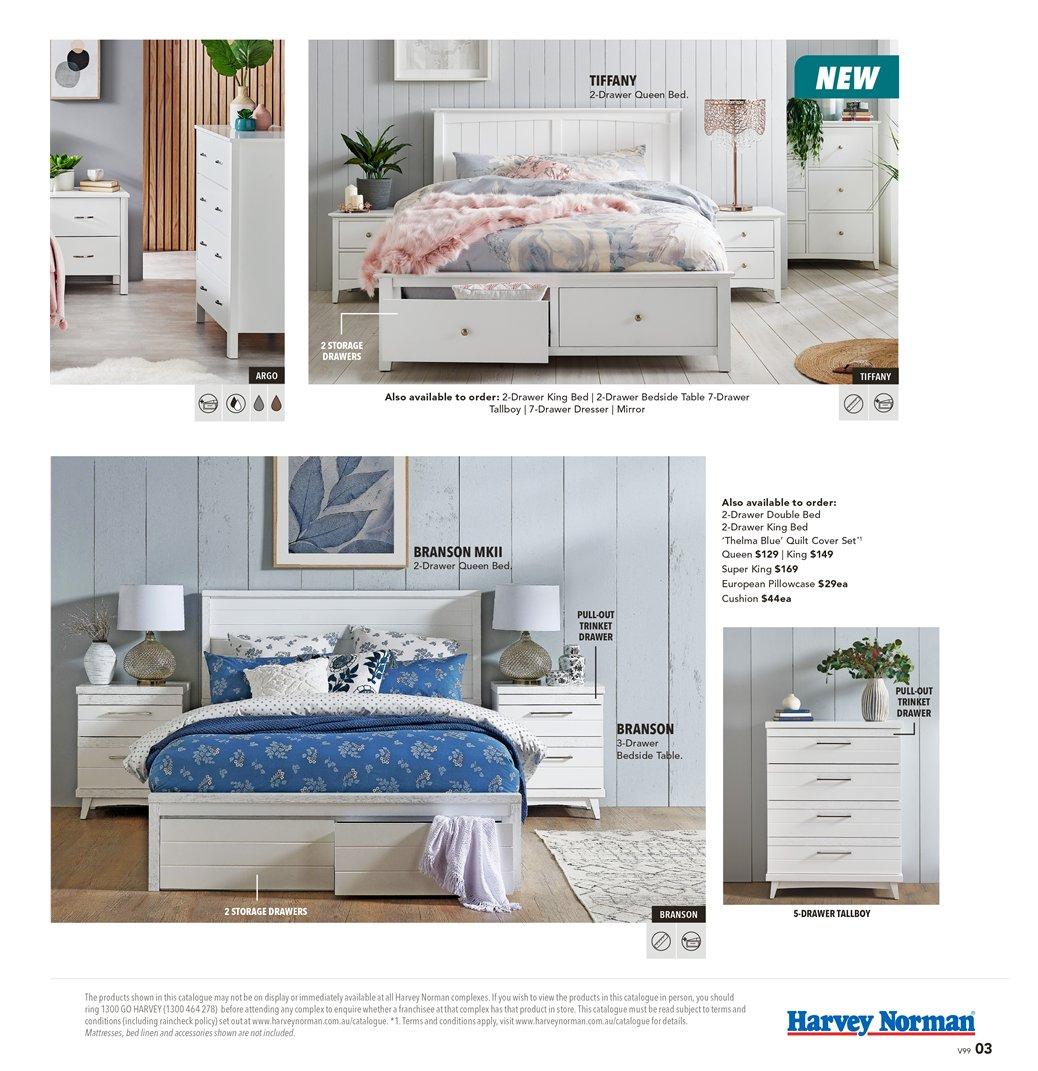 Harvey Norman catalogue  - 8.3.2019 - 31.3.2019. Page 3.