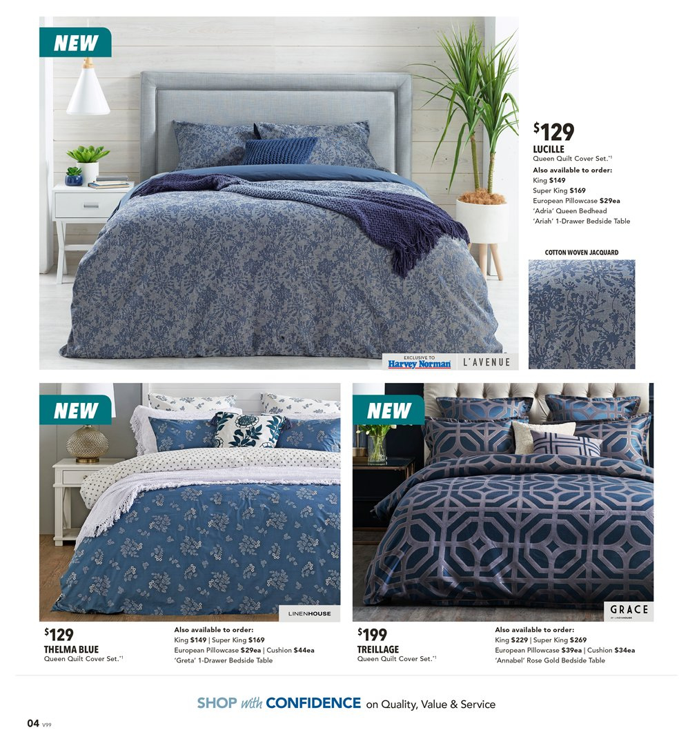 Harvey Norman catalogue  - 8.3.2019 - 31.3.2019. Page 4.