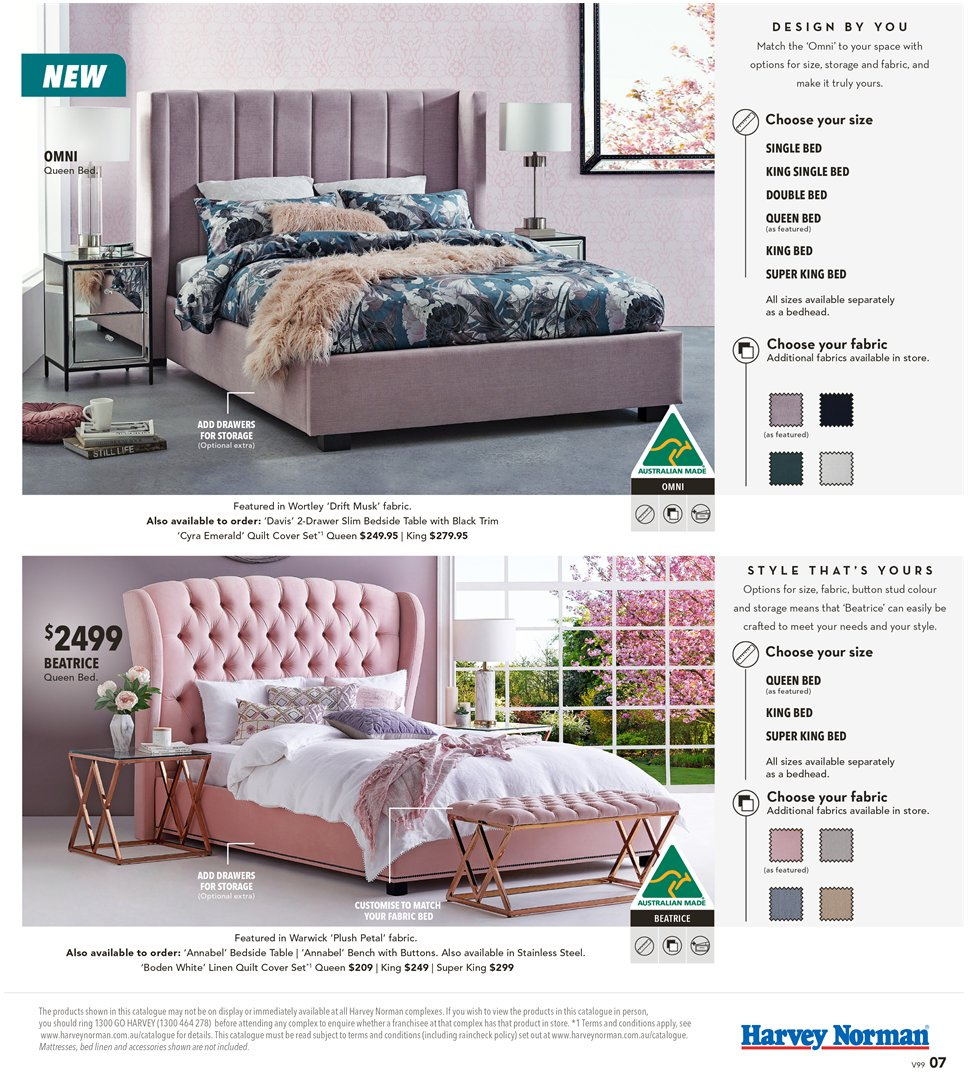Harvey Norman catalogue  - 8.3.2019 - 31.3.2019. Page 7.