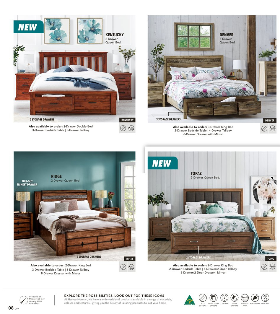 Harvey Norman catalogue  - 8.3.2019 - 31.3.2019. Page 8.