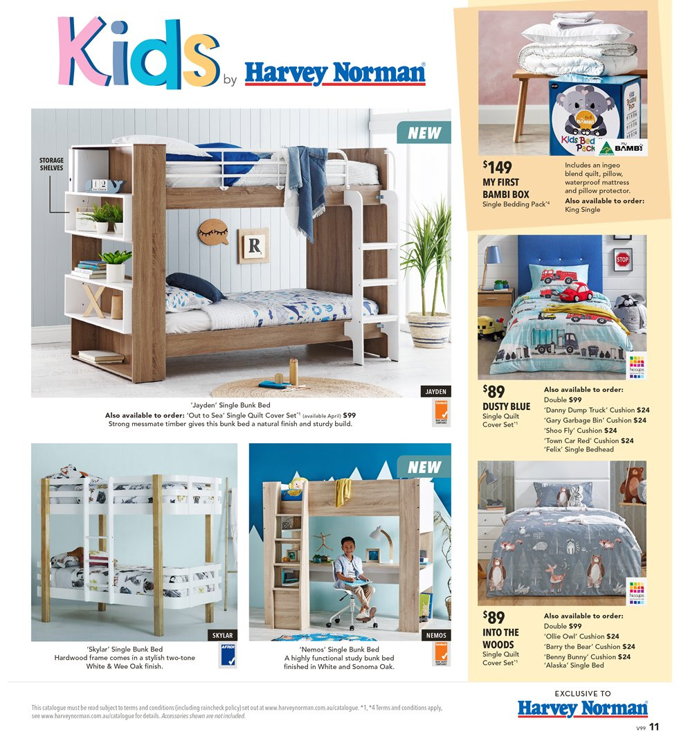 Harvey Norman catalogue  - 8.3.2019 - 31.3.2019. Page 11.