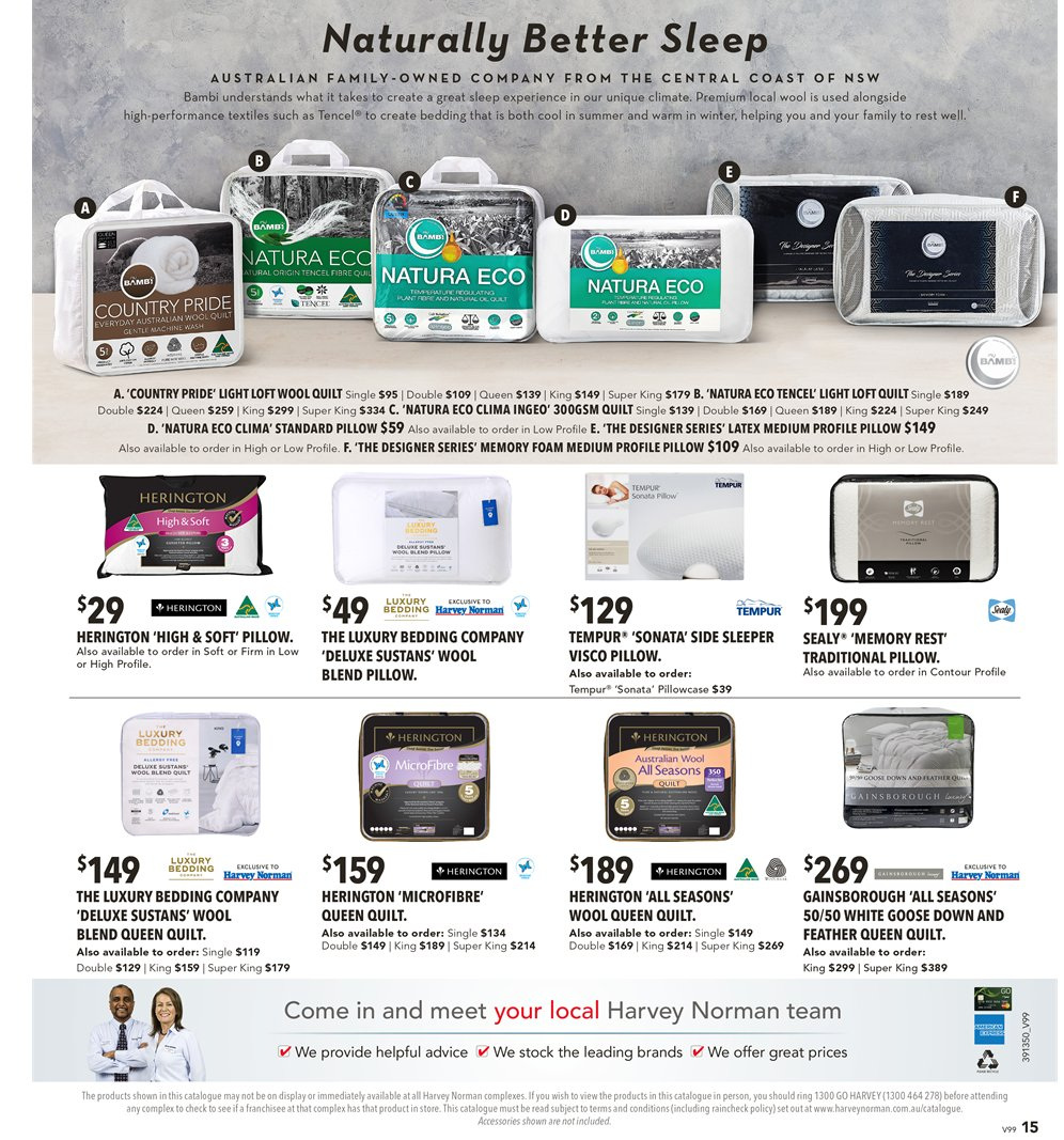 Harvey Norman catalogue  - 8.3.2019 - 31.3.2019. Page 15.