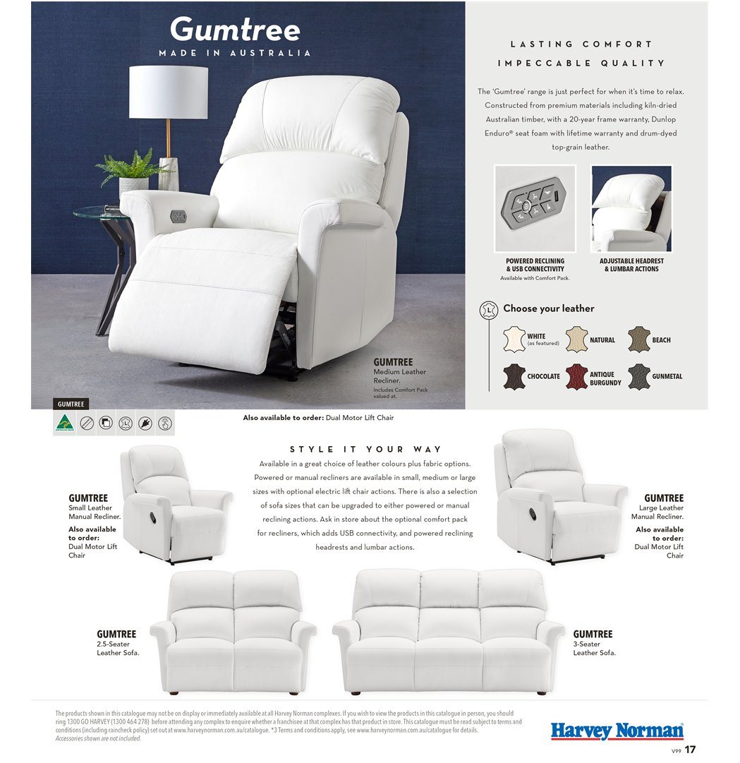 Harvey Norman catalogue  - 8.3.2019 - 31.3.2019. Page 17.