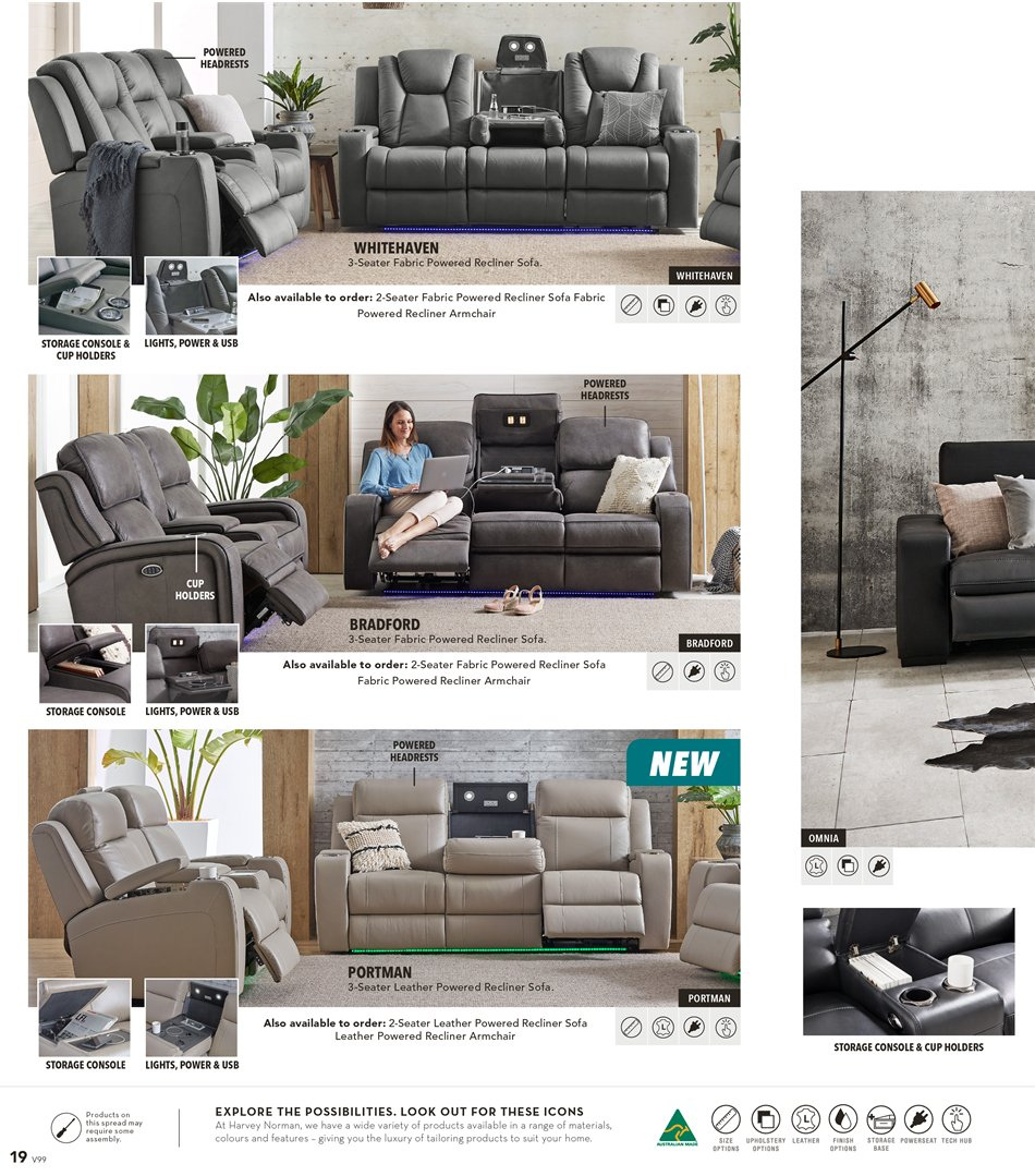 Harvey Norman catalogue  - 8.3.2019 - 31.3.2019. Page 18.