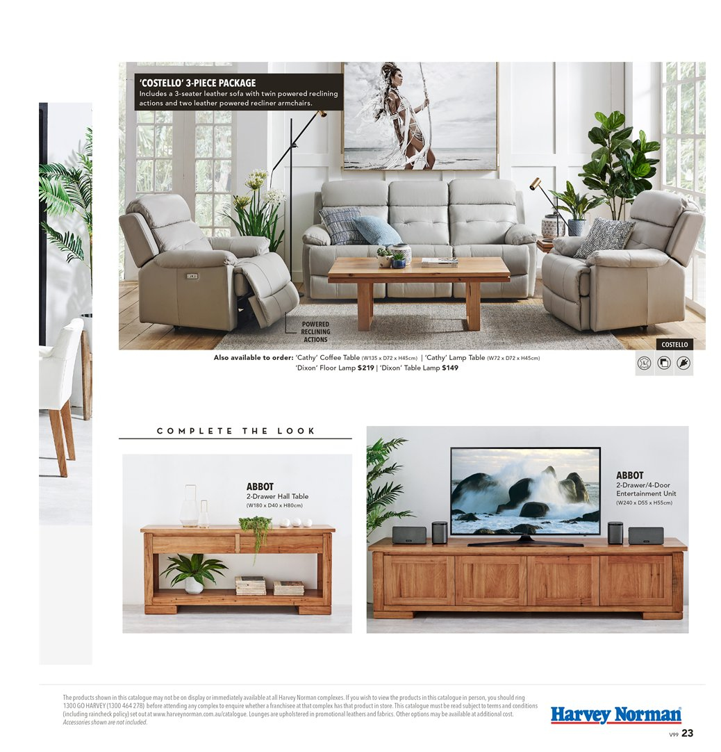 Harvey Norman catalogue  - 8.3.2019 - 31.3.2019. Page 23.