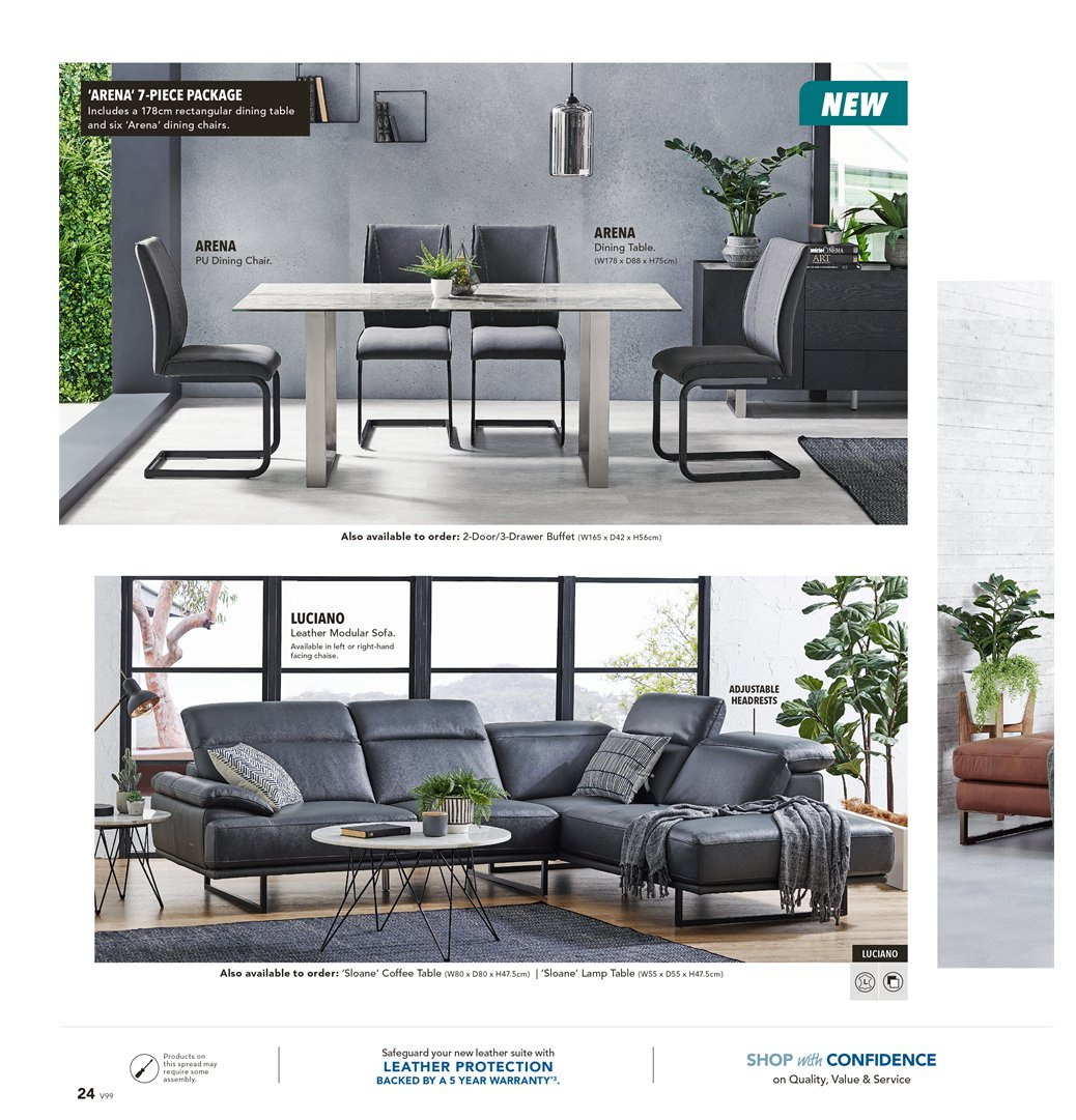 Harvey Norman catalogue  - 8.3.2019 - 31.3.2019. Page 24.