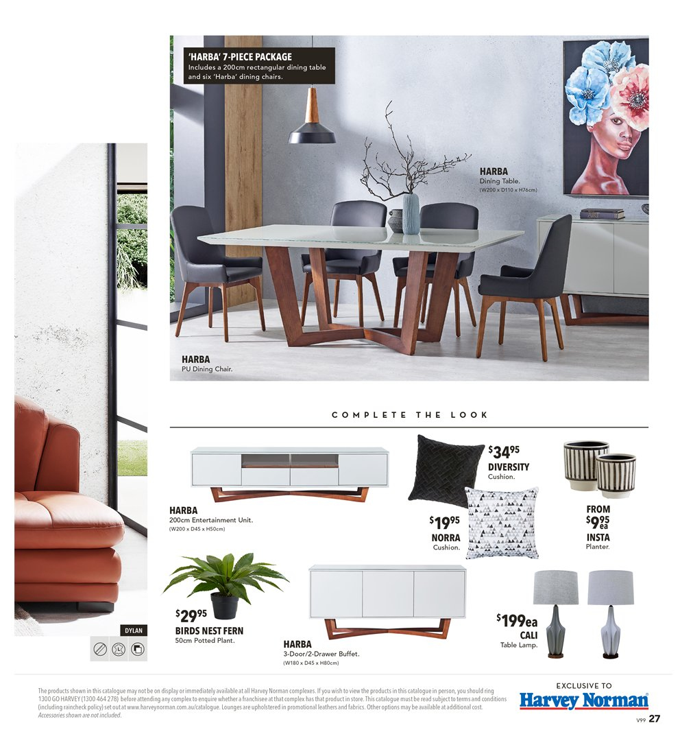Harvey Norman catalogue  - 8.3.2019 - 31.3.2019. Page 27.