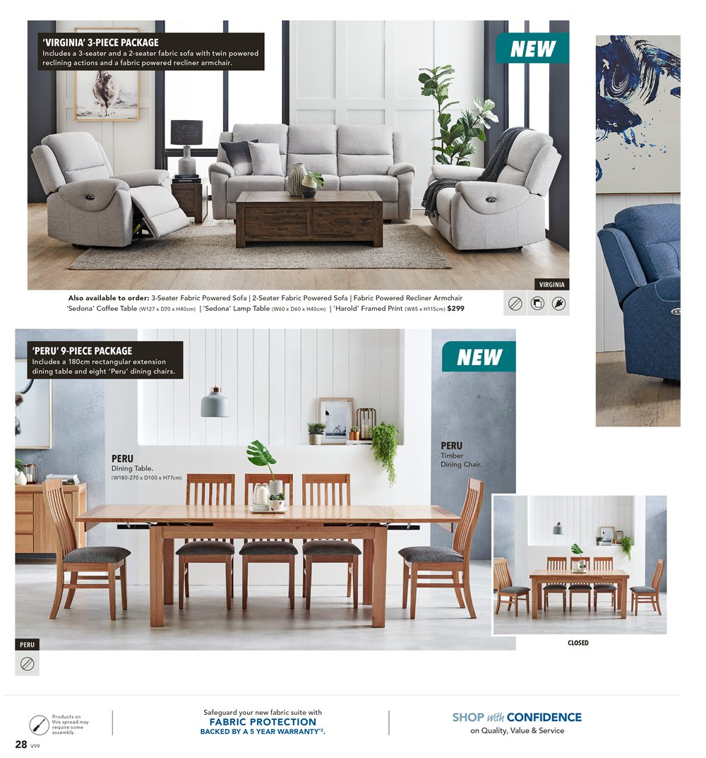 Harvey Norman catalogue  - 8.3.2019 - 31.3.2019. Page 28.