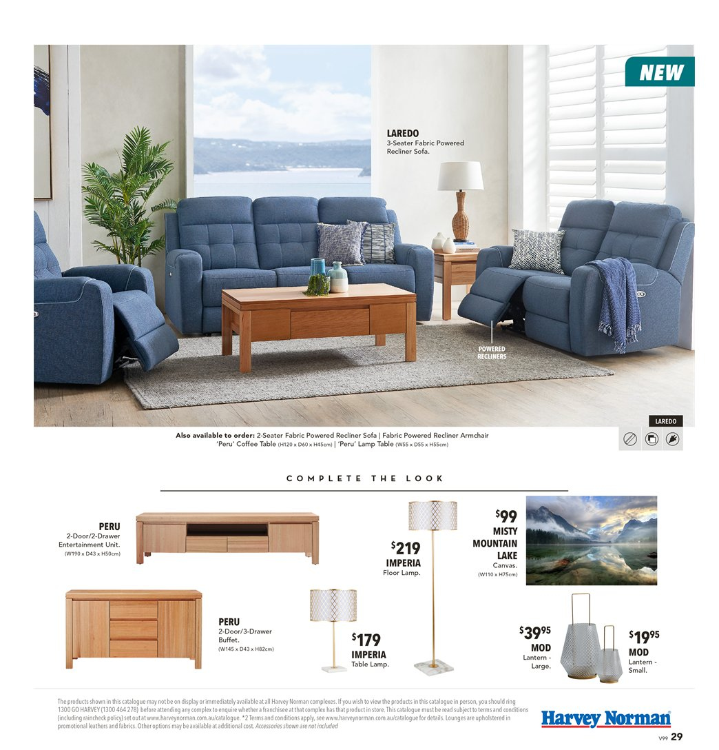 Harvey Norman catalogue  - 8.3.2019 - 31.3.2019. Page 29.