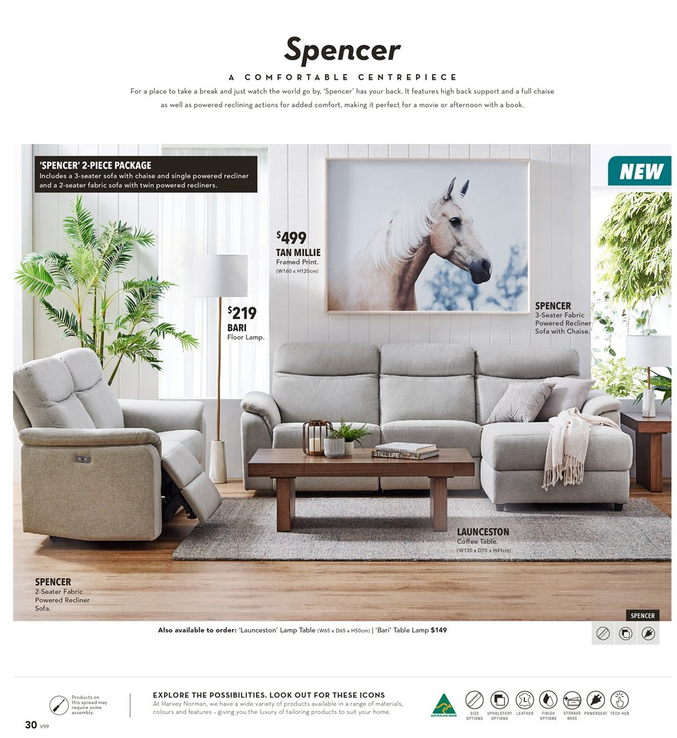 Harvey Norman catalogue  - 8.3.2019 - 31.3.2019. Page 30.