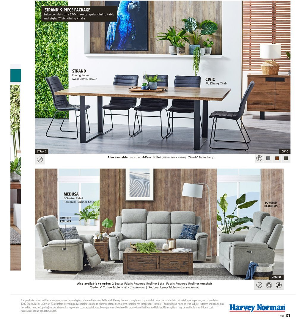 Harvey Norman catalogue  - 8.3.2019 - 31.3.2019. Page 31.