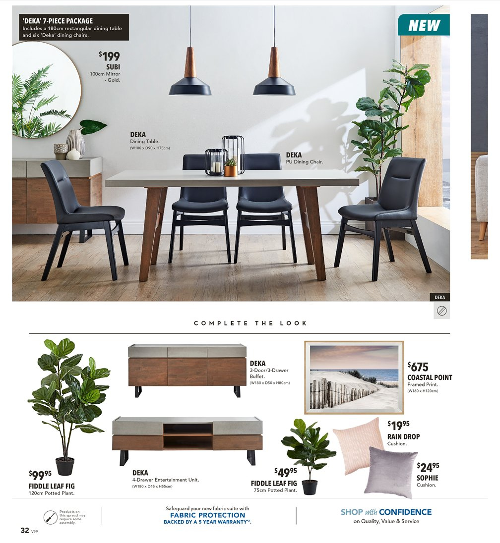 Harvey Norman catalogue  - 8.3.2019 - 31.3.2019. Page 32.