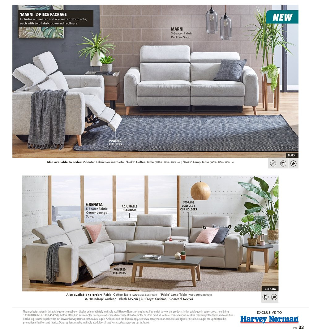 Harvey Norman catalogue  - 8.3.2019 - 31.3.2019. Page 33.