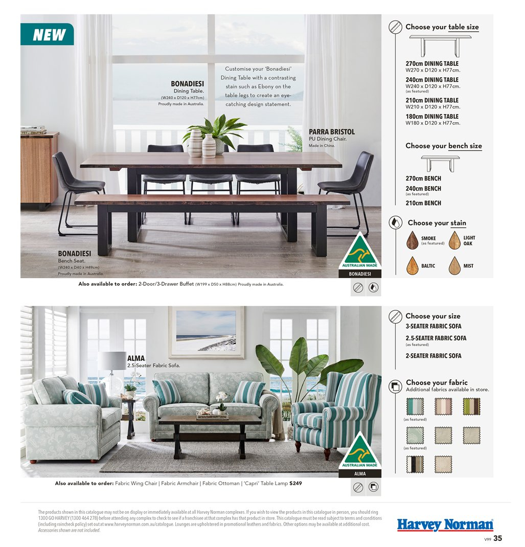 Harvey Norman catalogue  - 8.3.2019 - 31.3.2019. Page 35.