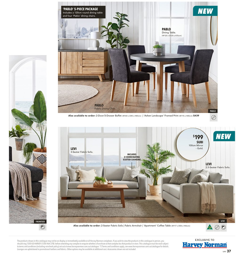 Harvey Norman catalogue  - 8.3.2019 - 31.3.2019. Page 37.