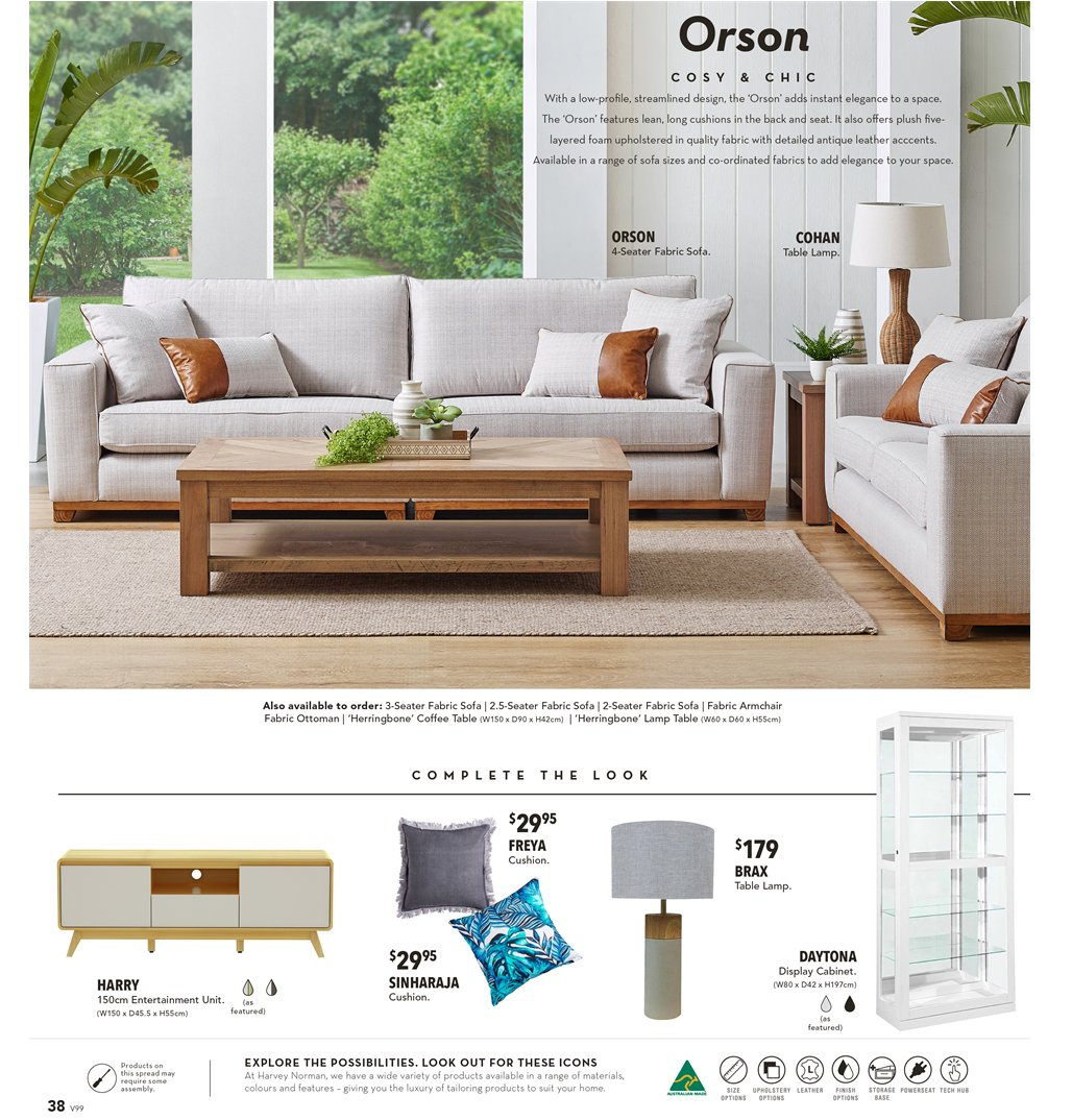 Harvey Norman catalogue  - 8.3.2019 - 31.3.2019. Page 38.