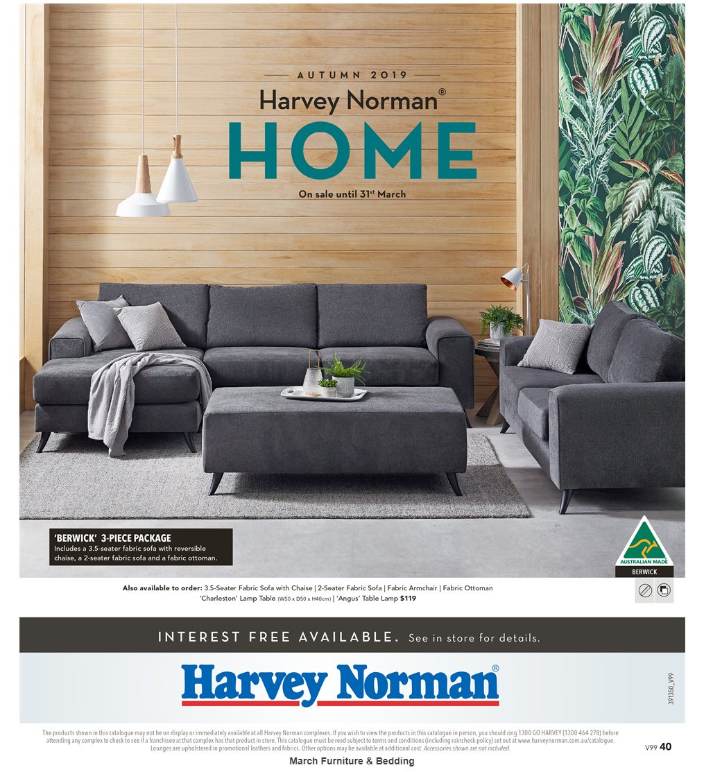 Harvey Norman catalogue  - 8.3.2019 - 31.3.2019. Page 40.