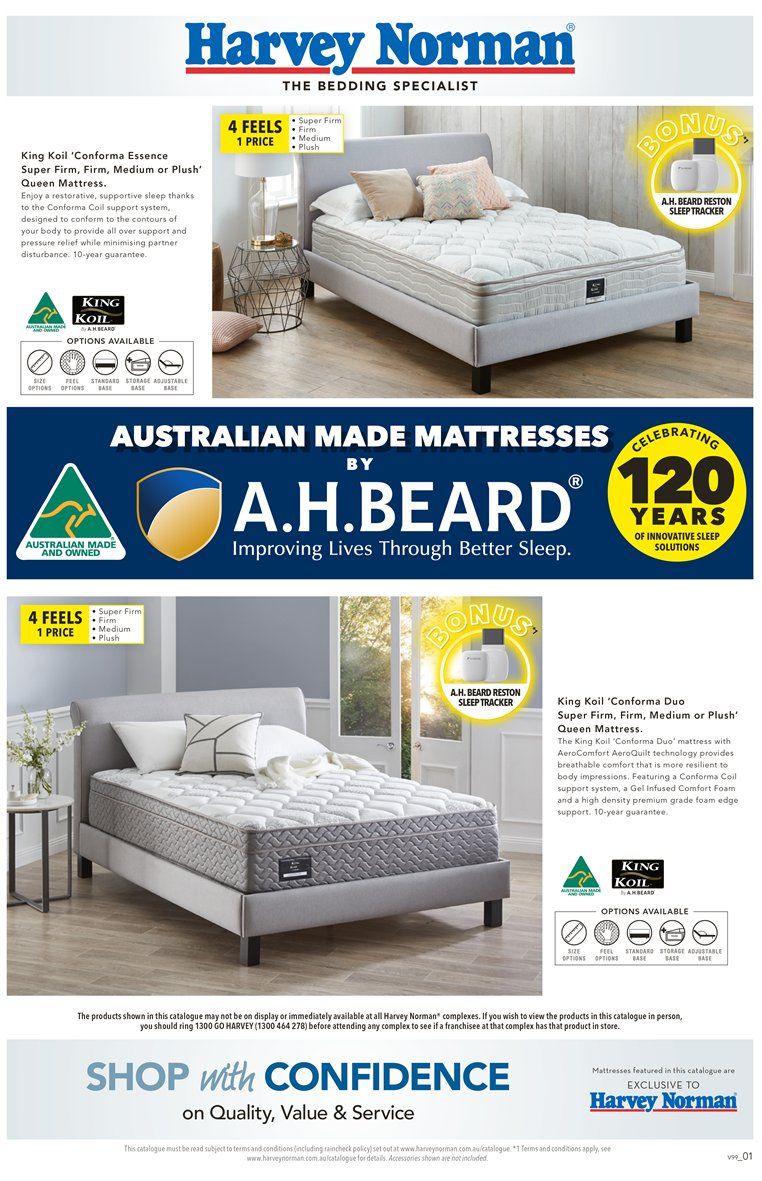 Harvey Norman catalogue  - 23.3.2019 - 14.4.2019. Page 1.