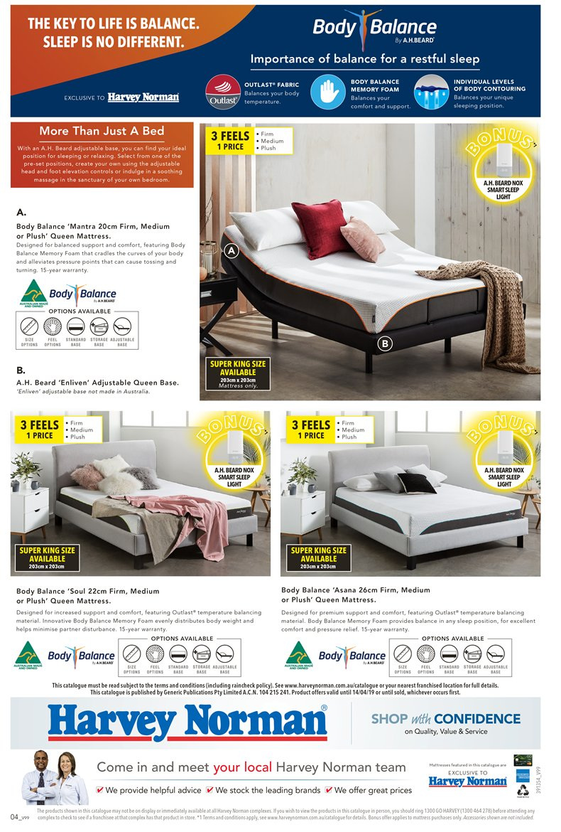 Harvey Norman catalogue  - 23.3.2019 - 14.4.2019. Page 4.