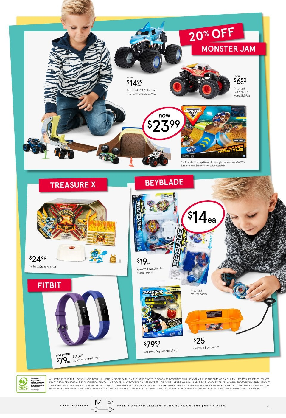 Myer catalogue  - 2.4.2019 - 28.4.2019. Page 3.