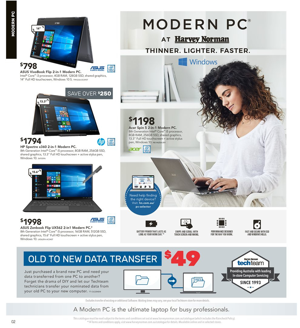 Harvey Norman catalogue  - 5.4.2019 - 21.4.2019. Page 2.