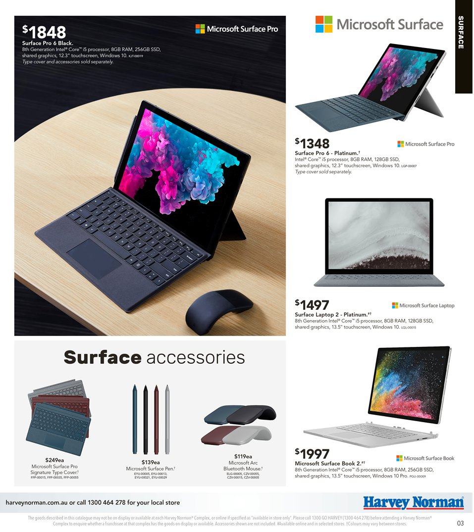 Harvey Norman catalogue  - 5.4.2019 - 21.4.2019. Page 3.