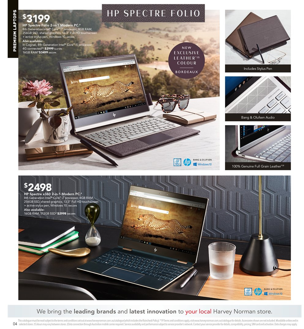Harvey Norman catalogue  - 5.4.2019 - 21.4.2019. Page 4.