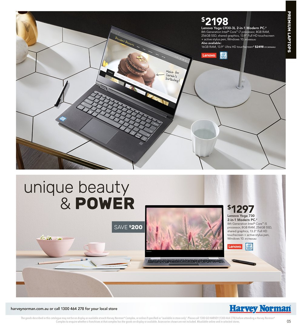 Harvey Norman catalogue  - 5.4.2019 - 21.4.2019. Page 5.