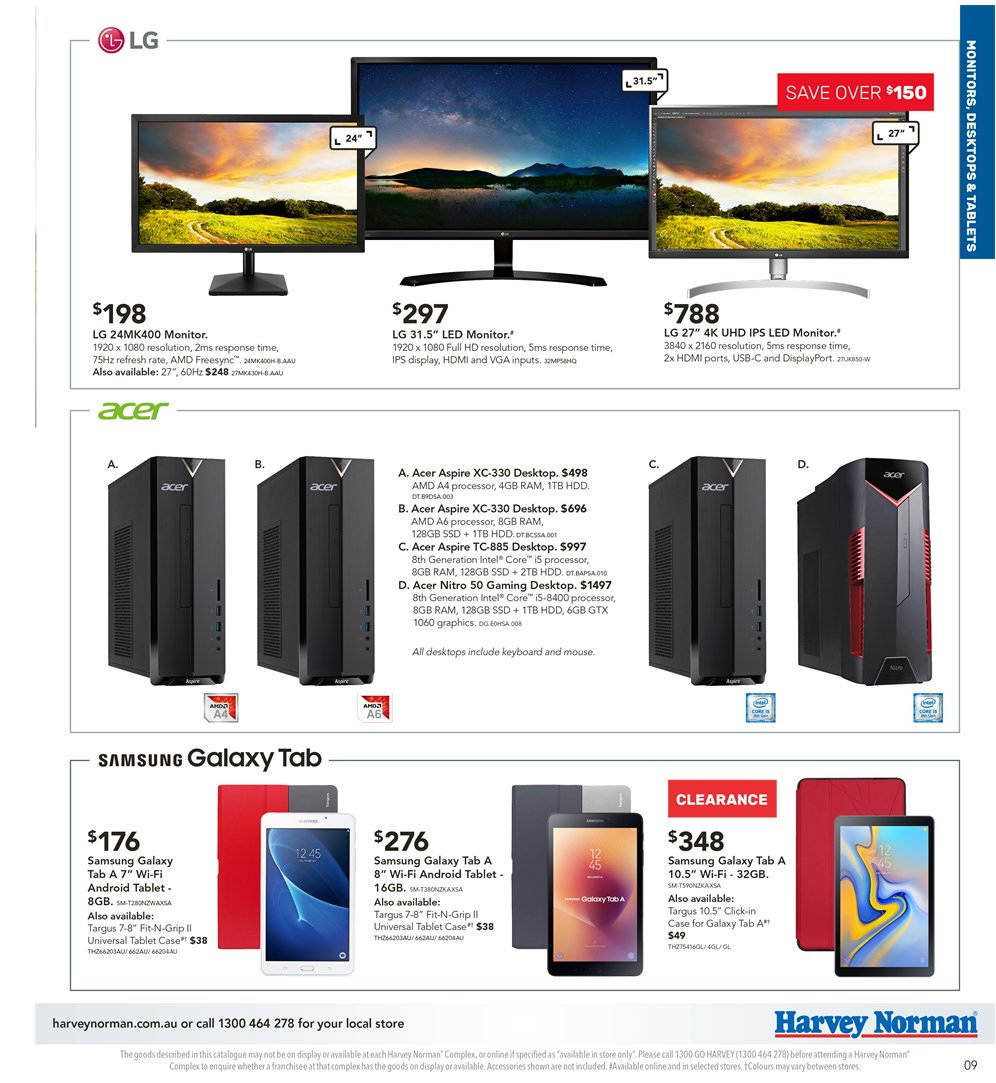 Harvey Norman catalogue  - 5.4.2019 - 21.4.2019. Page 9.