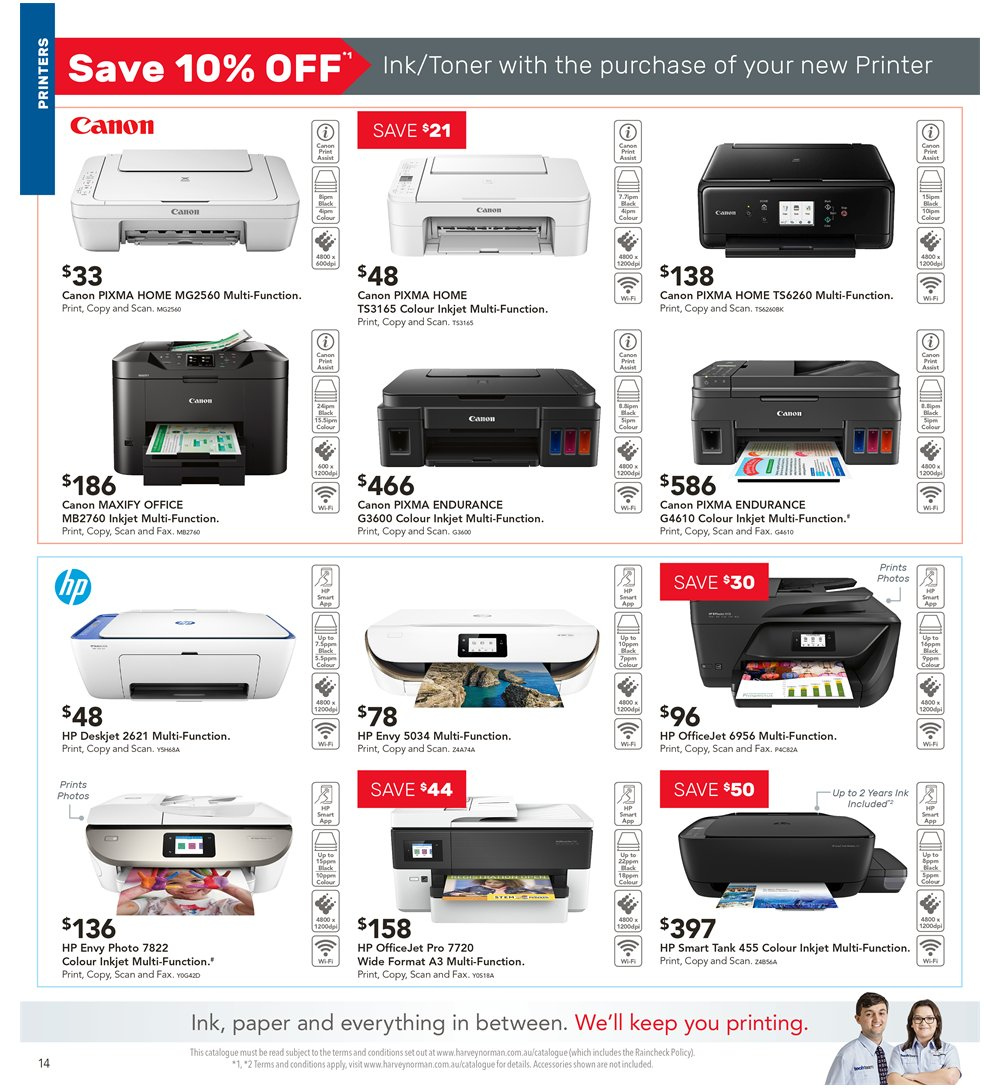 Harvey Norman catalogue  - 5.4.2019 - 21.4.2019. Page 14.