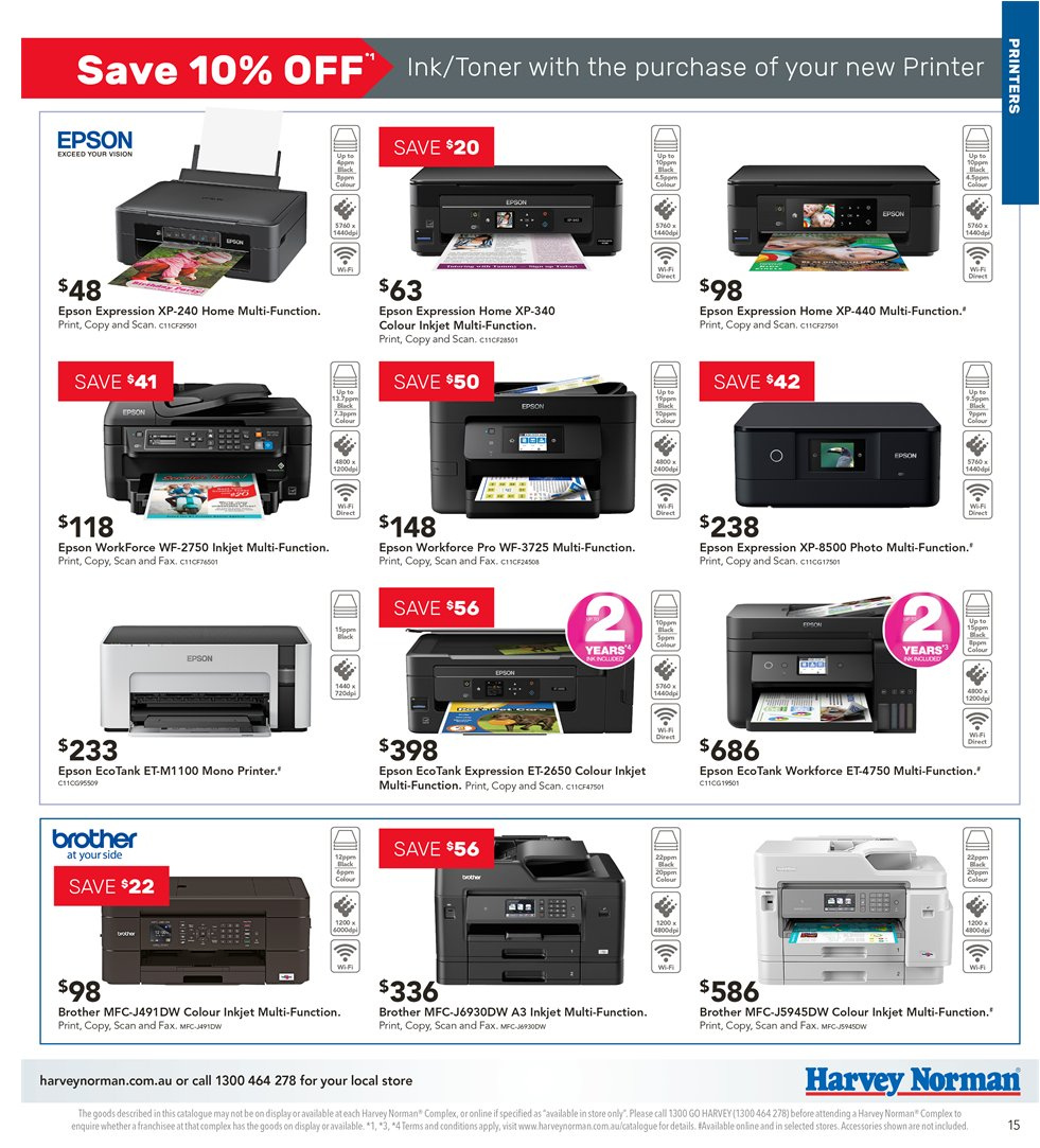 Harvey Norman catalogue  - 5.4.2019 - 21.4.2019. Page 15.