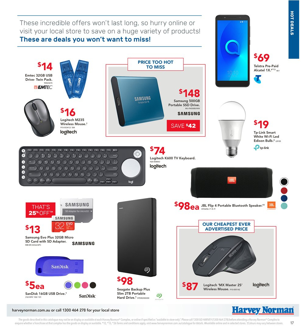 Harvey Norman catalogue  - 5.4.2019 - 21.4.2019. Page 17.