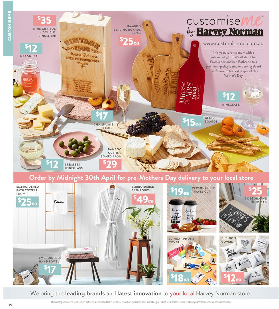 Harvey Norman catalogue  - 5.4.2019 - 21.4.2019. Page 19.