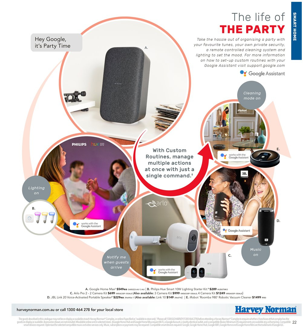 Harvey Norman catalogue  - 5.4.2019 - 21.4.2019. Page 22.