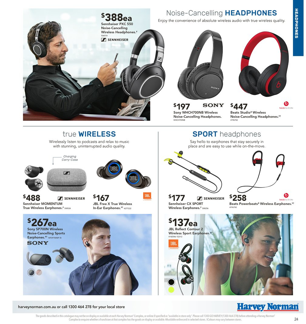 Harvey Norman catalogue  - 5.4.2019 - 21.4.2019. Page 24.