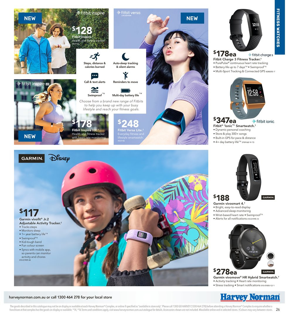 Harvey Norman catalogue  - 5.4.2019 - 21.4.2019. Page 26.