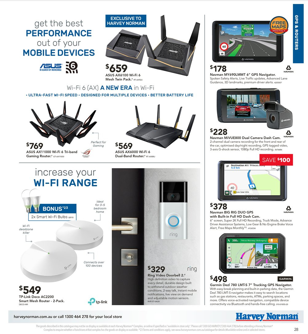 Harvey Norman catalogue  - 5.4.2019 - 21.4.2019. Page 28.