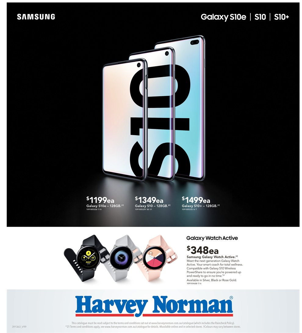 Harvey Norman catalogue  - 5.4.2019 - 21.4.2019. Page 32.