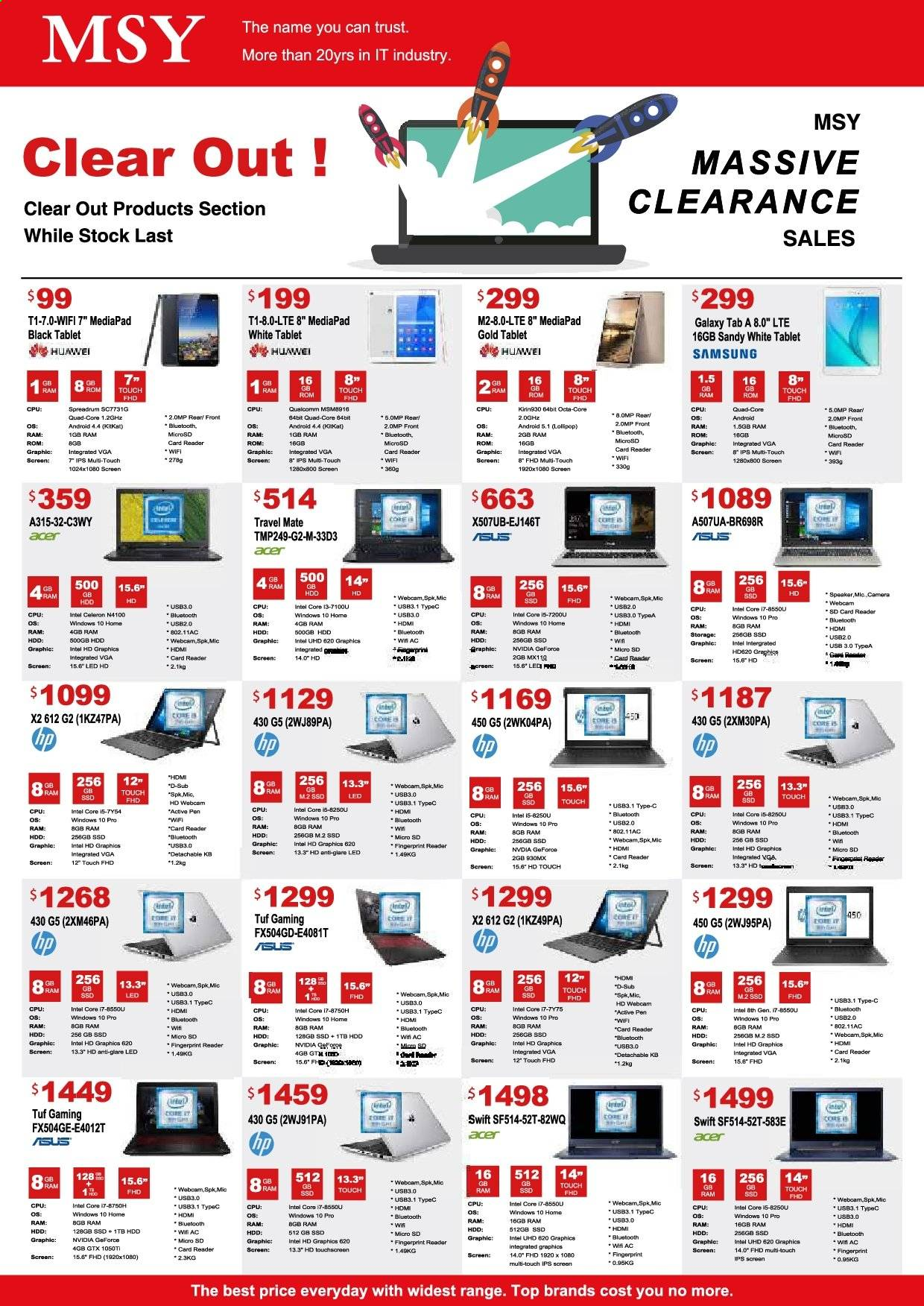 MSY Technology catalogue . Page 4.