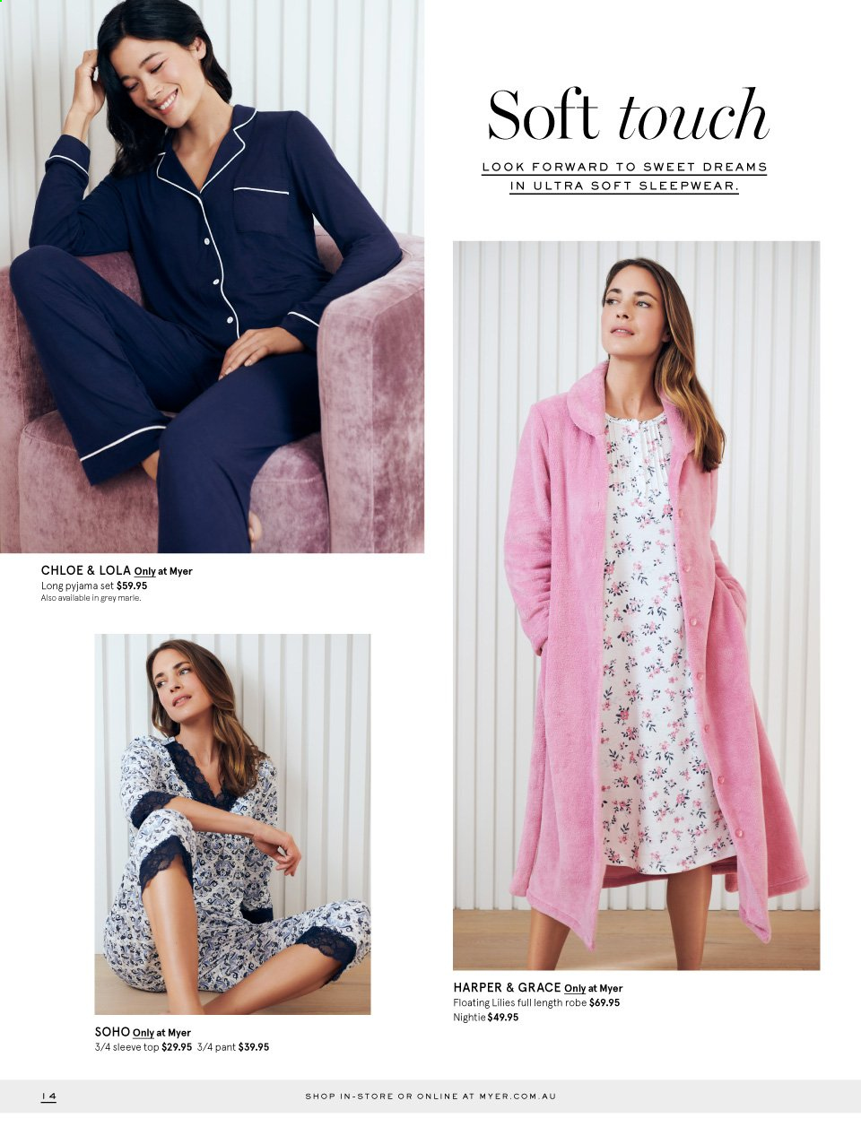 Myer catalogue  - 23.4.2019 - 12.5.2019. Page 14.