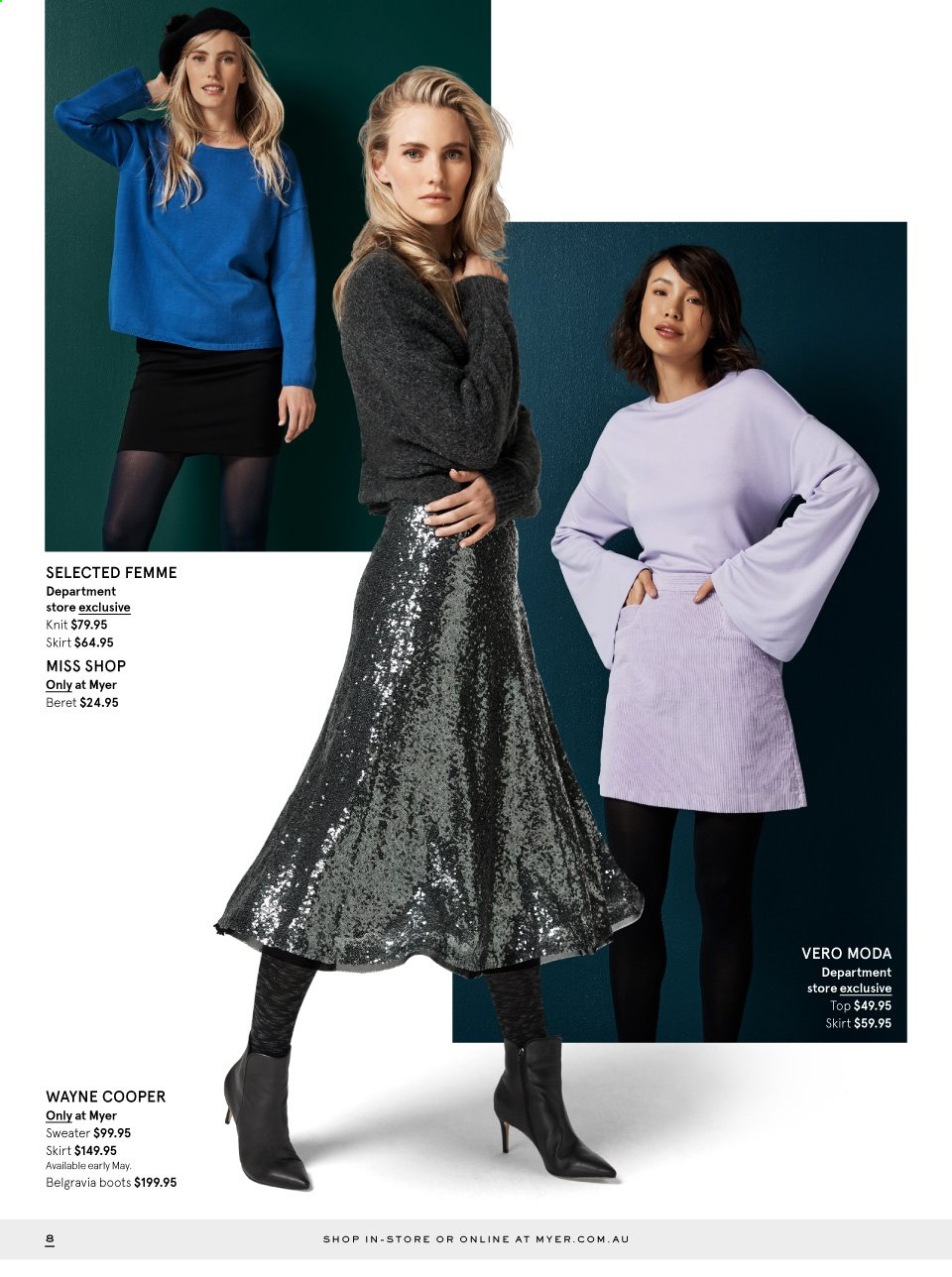 Myer catalogue  - 29.4.2019 - 26.5.2019. Page 8.