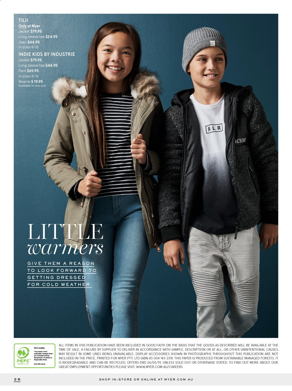Myer catalogue  - 29.4.2019 - 26.5.2019. Page 26.