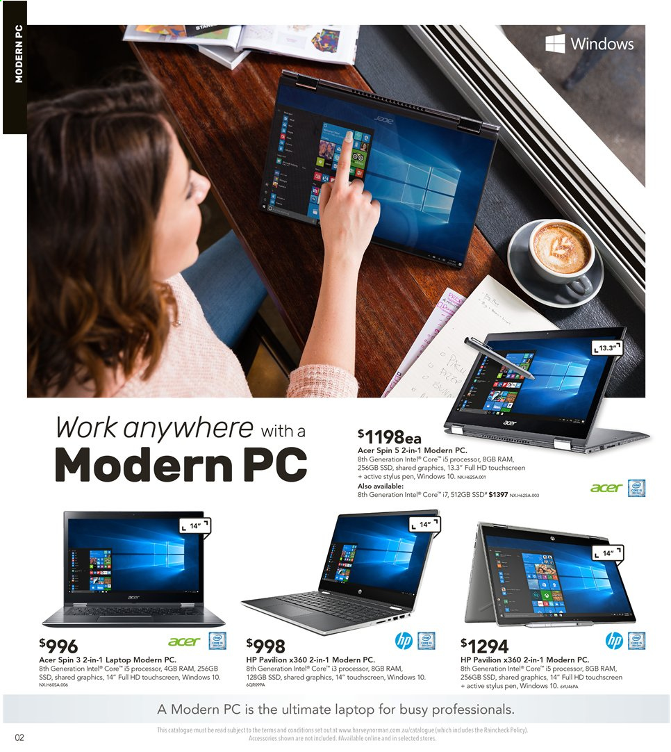 Harvey Norman catalogue  - 3.5.2019 - 19.5.2019. Page 2.
