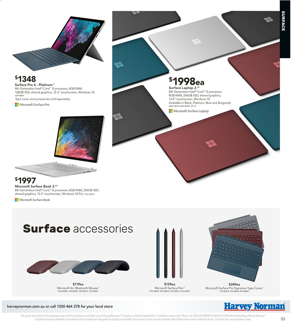 Harvey Norman catalogue  - 3.5.2019 - 19.5.2019. Page 3.