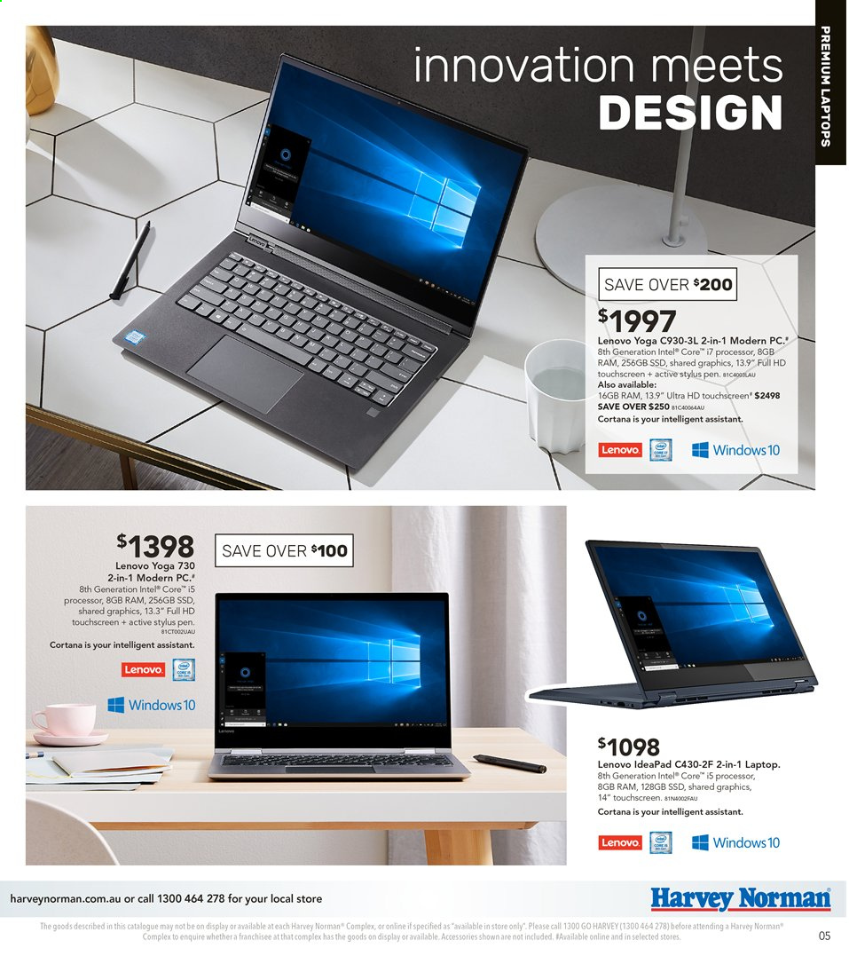 Harvey Norman catalogue  - 3.5.2019 - 19.5.2019. Page 5.